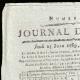 DETAILS  01 | French Revolution - Journal de Paris - Thursday, June 25, 1789 | Bicentennial of the French Revolution