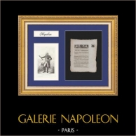 Imperial Decree - Napoleon - 1811 - Portrait of the Marshal Jourdan | Historical Document on laid paper of 1811 and Portrait of the Marshal Jourdan