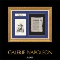 Décret Impérial - Napoléon - 1811 - Portrait du Maréchal Jourdan | Document Historique sur papier vergé de 1811 et Portrait du Maréchal Jourdan