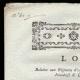 DÉTAILS  01 | Décret - Louis XVI - 1791 - Infanterie Allemande, Irlandaise et Liégeoise fait partie de l'Infanterie Française | Portrait du chanteur Simon Chenard en costume de sans-culotte (Louis Léopold Boilly)