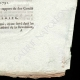 DÉTAILS  04 | Décret - Louis XVI - 1791 - Officiers de la Garde Nationale | La Mort de Marat (Jacques-Louis David)
