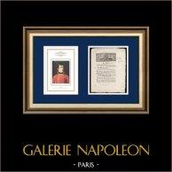 Decreto - Revolución Francesa - 1792 - Organización de l'Artillería | Retrato de Napoleón Bonaparte (Robert Lefevre) | Decreto N°1698 de la Asamblea Nacional con una grande viñeta xilográfica fechado el 9 Mai 1792, l'An 4 de la Liberté