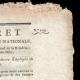 DÉTAILS  02   Décret - Révolution Française - 1794 - Traitement des divers Employés de l'Artillerie   Portrait de Gaspard Monge (1746-1818)