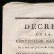 DÉTAILS  01 | Décret - Révolution Française - 1793 - Subsistance, transport et convois militaires | Bonaparte - Expédition en Egypte