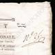 DETTAGLI  02 | Decreto - Rivoluzione Francese - 1793 - Elenco di Ufficiali, civili e militari | Bonaparte - Campagna d'Egitto