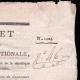 DÉTAILS  02   Décret - Révolution Française - 1793 - Nouvelles compagnies de canonniers   Portrait de Pierre Daumesnil (1776-1832)