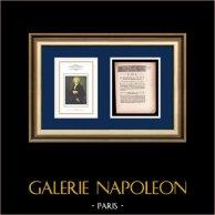 Decreto - Revolução Francesa - 1792 - Fornecimento de armas em arsenais | Retrato de Maximilien de Robespierre (Pierre Roch Vigneron) | Decreto N°1890 da Assembleia Nacional com uma grande vinheta em xilogravura em 12 Juin 1792, l'An 4 de la Liberté