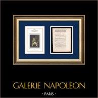 Dekret - Franska Revolutionen - 1792 - Ökande officerare   Porträtt av Maximilien de Robespierre (Louis Leopold Boilly)   Dekret N°1949 av Nationalförsamling med en stor Träsnitt-Vignette daterad 30 Juillet 1792