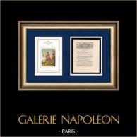 Dekret - Franska Revolutionen - 1792 - Armée du Midi | Porträtt av Napoleon Bonaparte, Premier Consul (Baron Antoine-Jean Gros) | Dekret N°1812 av Nationalförsamling med en stor Träsnitt-Vignette daterad 23 Juin 1792, l'An 4 de la Liberté