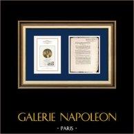 Decreto - Luigi XVI di Francia - 1790 - Sovvenzione concessa al Dipartimento della Guerra | Ritratto di Napoleone Bonaparte (1769-1821) | Decreto de l'Assemblea Nazionale con una grande vignetta xilografica del 5 Décembre 1790