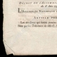 DETAILS  03   Decree - Louis XVI of France - 1791 - King's commissioners   Portrait of Louis Antoine de Saint-Just (1767-1794)