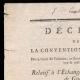 DÉTAILS  01   Décret - Révolution Française - 1793 - Échange des Prisonniers de Guerre   Portrait de Jean-Baptiste Drouet d'Erlon (1765-1844)