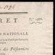 DÉTAILS  02   Décret - Révolution Française - 1793 - Échange des Prisonniers de Guerre   Portrait de Jean-Baptiste Drouet d'Erlon (1765-1844)