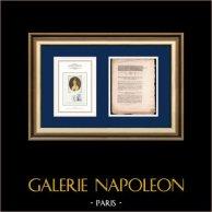 Decree - French Revolution - 1792 - Commissaires de Police | Portrait of Manon Roland (1754-1793) | Decree N°1872 of the National Assembly with a large woodcut vignette dated 6 Juillet 1792, l'An 4 de la Liberté