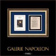 Dekret - Französische Revolution - 1792 - Hausbesuche   Porträt von Napoleon Bonaparte in Pont d'Arcole (Antoine-Jean Gros)   Dekret N°219 der Nationalversammlung vom 28 Août 1792, l'An 4 de la Liberté