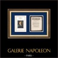 Dekret - Ludvig XVI - 1791 - Slott Tuilerierna | Porträtt av Camille Desmoulins (1760-1794) | Dekret N°20 av Nationalförsamling med en stor Träsnitt-Vignette daterad 24 Juin 1791