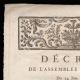 DÉTAILS  01 | Décret - Louis XVI - 1791 - Château des Tuileries | Portrait de Camille Desmoulins (1760-1794)