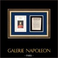 Decreto - Luis XVI de Francia - 1791 - Electores nombrados por las Asambleas Primarias   Retrato de Napoleón Bonaparte, Premier Consul (Robert Lefevre)   Decreto N°299 de la Asamblea Nacional con una grande viñeta xilográfica fechado el 24 Juin 1791