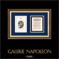Decreto - Luigi XVI di Francia - 1791 - Autorizzazione rilasciata al dipartimento della Lozère | Motto Nazionale della Repubblica Francese - Libertà | Decreto de l'Assemblea Nazionale con una grande vignetta xilografica del 7 Mars 1791