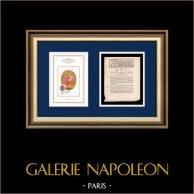 Dekret - Ludvig XVI - 1791 - Valförsamling för Nord-avdelningen | Frankrikes Motto - Jämlikhet | Dekret av Nationalförsamling med en stor Träsnitt-Vignette daterad 21 Mars 1791