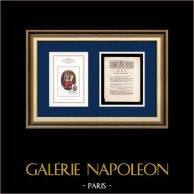 Dekret - Ludvig XVI - 1791 - Kravall i Nimes | Frankrikes Motto - Frihet | Dekret av Nationalförsamling med en stor Träsnitt-Vignette daterad 16 Février 1791
