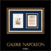 Decreto - Luis XVI de Francia - 1791 - Haute Cour nationale | Revolución Francesa en Nantes - Le Bouffay (1789) | Decreto de la Asamblea Nacional con una grande viñeta xilográfica fechado el 10 Mai 1791