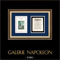 Dekret - Ludwig XVI - 1791 - Zöllners | Porträt von Gilbert du Motier de La Fayette (1757-1834) | Dekret der Nationalversammlung mit einer großen Holzschnitt-Vignette vom 4 Mai 1791