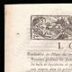 DÉTAILS  01 | Décret - Louis XVI - 1791 - Receveurs généraux des Finances et des Impositions | Portrait de Gilbert du Motier de La Fayette (1757-1834)