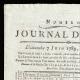 DÉTAILS  01   Révolution Française - Journal de Paris - Dimanche 7 Juin 1789   Portrait de Louis Marie Marc Antoine de Noailles (1756-1804)