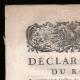 DÉTAILS  01 | Déclaration du Roi - Louis XVI - 1789 - Vacance des Parlements du Royaume | Caricature de la Révolution Française - Le Voeux Accompli
