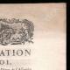 DÉTAILS  02 | Déclaration du Roi - Louis XVI - 1789 - Vacance des Parlements du Royaume | Caricature de la Révolution Française - Le Voeux Accompli