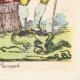 DÉTAILS  08 | Déclaration du Roi - Louis XVI - 1789 - Vacance des Parlements du Royaume | Caricature de la Révolution Française - Le Voeux Accompli