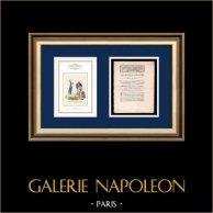 Carta patente del Rey - Luis XVI de Francia - 1789 - Conservación de la propiedad de la Iglesia | Caricatura de la Revolución Francesa | Carta patente del Rey Luis XVI de Francia del año 1789 con una grande viñeta xilográfica