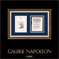 Lettre patente du Roi - Louis XVI - 1790 - Assemblées électorales | Caricature de la Révolution Française | Lettre patente du Roi Louis XVI de l'année 1790 avec vignette gravée sur bois