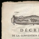 DETAILS  01 | Decree - French Revolution - 1792 - Funds granted to the Minister of the Interior | French Revolution - The wine of friendship