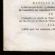 DÉTAILS  03 | Décret - Louis XVI - 1791 - Nouvelle Organisation du Trésor public | Révolution Française - Bataille de rue