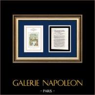 Dekret - Ludvig XVI - 1791 - Skatter | Franska revolutionen - Stormningen av Bastiljen | Dekret N°284 av Nationalförsamling med en stor Träsnitt-Vignette daterad 17 Juin 1789 (1791)