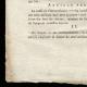 DÉTAILS  03 | Décret - Révolution Française - 1792 - Caisse de l'Extraordinaire ouvrira le remboursement de l'emprunt | Révolution Française - Couple au chapeau