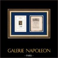 Proclamation du Roi - Louis XVI - 1790 - Garde nationale   Portrait de Gilbert du Motier de La Fayette (1757-1834)   Proclamation du Roi Louis XVI avec vignette gravée sur bois du 30 Avril 1790
