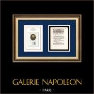 Lettre patente du Roi - Louis XVI - 1790 - Impôts   Portrait de Nicolas de Condorcet (1743-1794)   Lettre patente du Roi Louis XVI de l'année 1790 avec vignette gravée sur bois