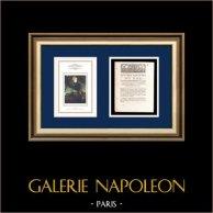 Lettre patente du Roi - Louis XVI - 1790 - Perception des droits d'Octroi | Portrait de Napoléon Bonaparte au Pont d'Arcole (Antoine-Jean Gros) | Lettre patente du Roi Louis XVI de l'année 1790 avec vignette gravée sur bois
