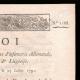 DETALLES  02 | Decreto - Luis XVI de Francia - 1791 - Regimientos de infantería alemán, irlandés y de Lieja | Retrato de Napoleón Bonaparte (Robert Lefevre)