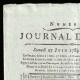 DÉTAILS  01 | Révolution Française - Journal de Paris - Samedi 27 Juin 1789 | Déclaration des Droits de l'Homme et du Citoyen de 1789