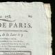 DÉTAILS  02 | Révolution Française - Journal de Paris - Samedi 27 Juin 1789 | Déclaration des Droits de l'Homme et du Citoyen de 1789