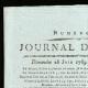 Einzelheiten  01 | Französische Revolution - Journal de Paris - Sonntag, 28. Juni 1789 | Porträt von Camille Desmoulins (1760-1794)