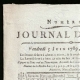 DETAILS  01 | Revolução Francesa - Journal de Paris - Sexta-feira, dia 5 de Junho de 1789 | Calendário Revolucionário Francês - Pluviose