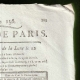 DETAILS  02 | Revolução Francesa - Journal de Paris - Sexta-feira, dia 5 de Junho de 1789 | Calendário Revolucionário Francês - Pluviose