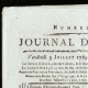 DETAILS  01 | French Revolution - Journal de Paris - Friday, July 3, 1789 | Portrait of Marianne - National Personification of the French Republic
