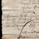 DETAILS  06 | Historical Document - Reign of Louis XV of France - 1747 - Jean-Jacques Rousseau Arrives in Paris after the Death of his Father