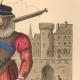 DÉTAILS  02   Document Historique sur Parchemin - Règne de Henri IV de France - 1590 - Guerres de Religion - Mousquetaire et Arquebuse